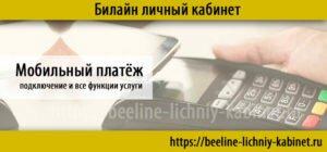 мобильный платёж билайн