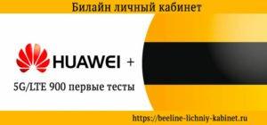 Huawei и билайн 5g